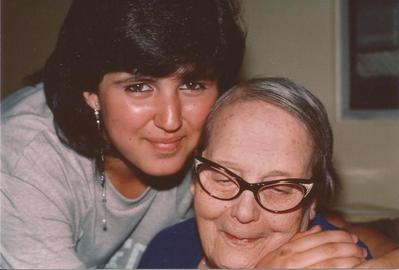 I was about 15 in this picture. Abuelita = unconditional love