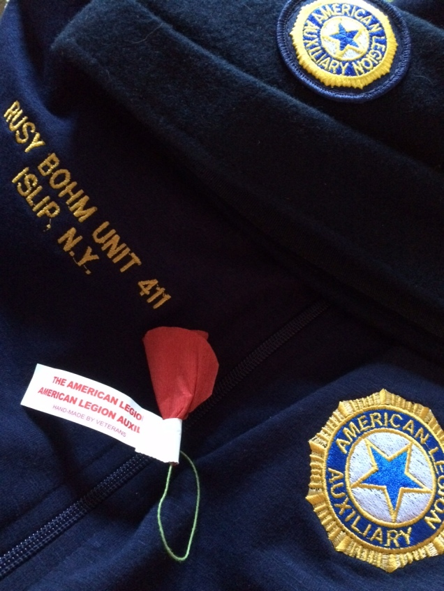 Here is some of what I will be donning proudly in the Memorial Day Parade, marching down Islip's Main Street with the Ladies Auxiliary of American Legion Rusy Bohm Post 411.  I will be in great company.