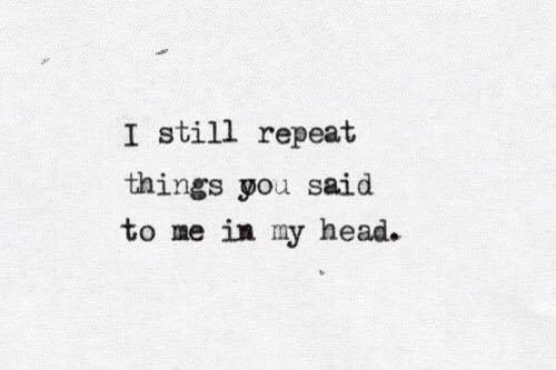 words you said